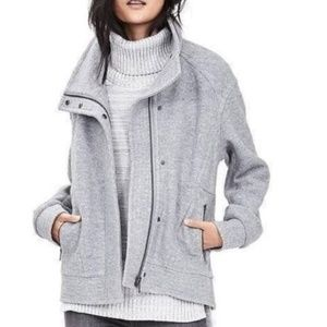 Banana Republic Gray Wool Blend Moto Jacket Sz XS